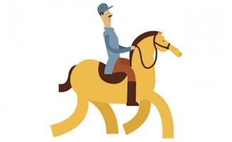 士兵骑马的动作动画视频