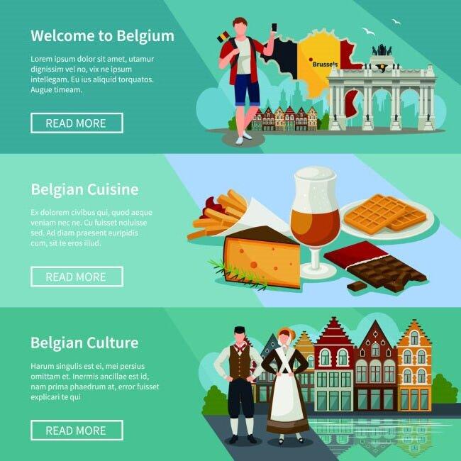 欧式管家服务理念的广告背景设计矢量素材