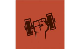 手握哑铃的手势海报设计