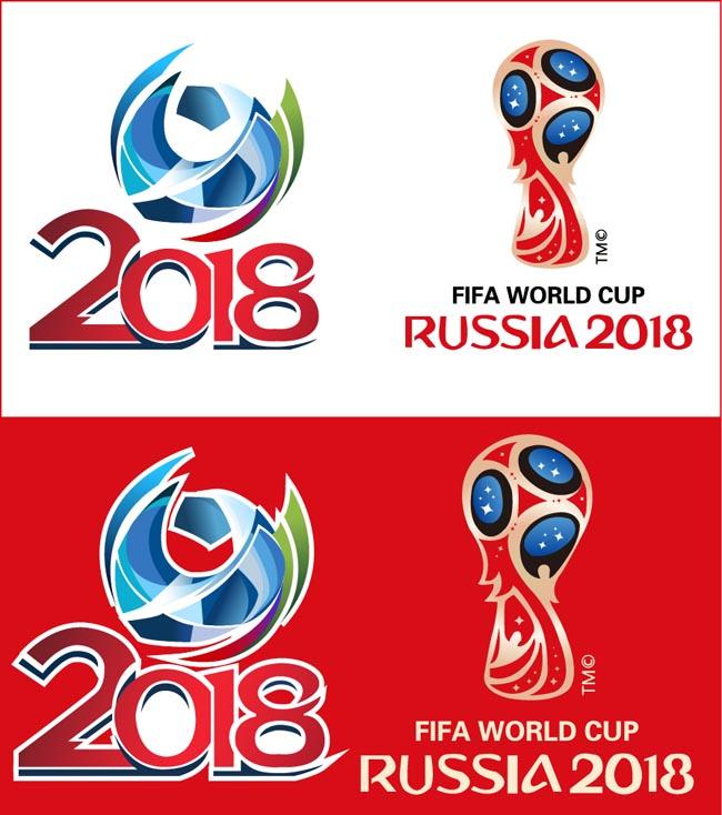 2018年世界杯足球赛创意背景设计素材