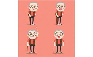 老爷爷人设卡通形象设计