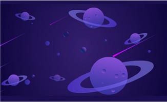 宇宙中的星河星球流星划