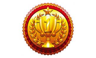 金色质感奖牌造型设计矢