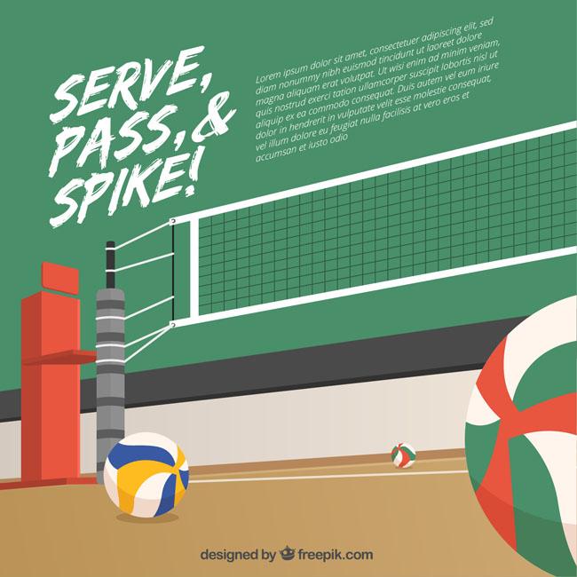 排球比赛场景创意背景设计海报素材下载