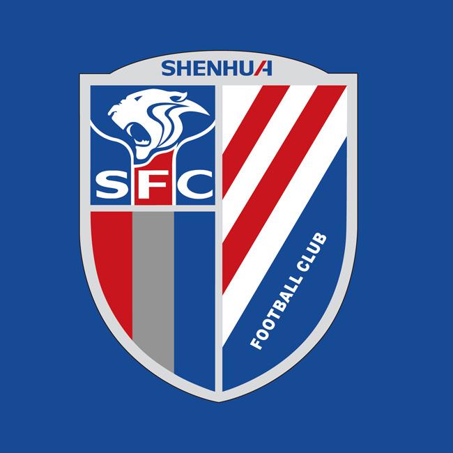 上海申花队logo标志矢量图