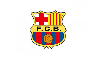 西甲巴塞罗那队标志logo矢
