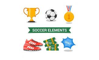 扁平化足球主题系列的图