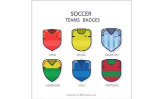 足球队队服标志徽章造型