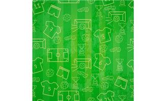 创意线条风格的足球主题元素图标背景设计素材