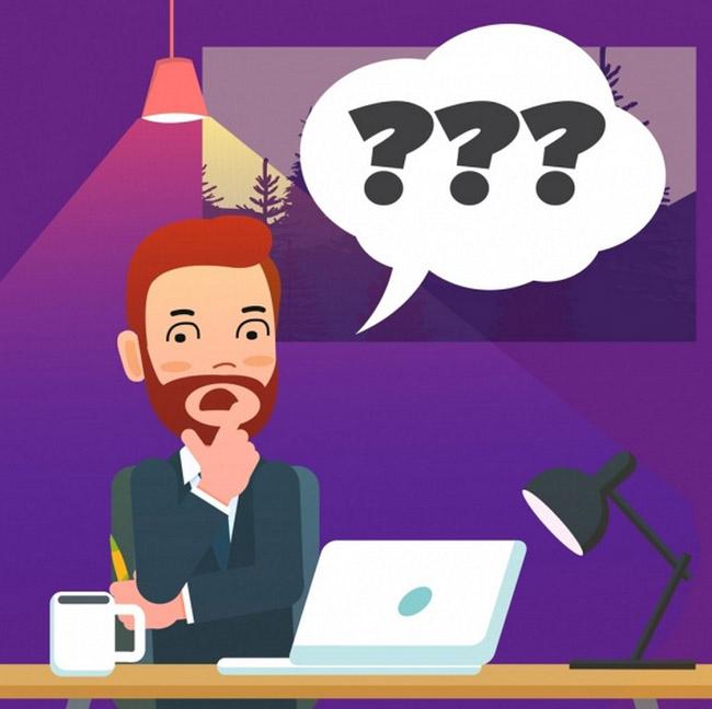 在办公室办公思考问题的男性形象设计 工作思考咖啡ai矢量素材下载