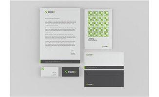 黑色调绿色元素平面设计