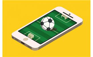 手机上足球场创意足球手游画面设计
