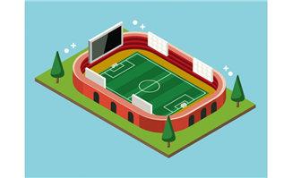 伪三维足球运动场的模型设计素材下载