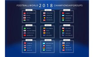 2018世界杯分组赛素材
