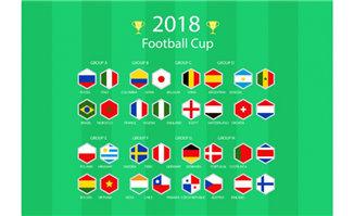 2018世界足球锦标赛矢量素材