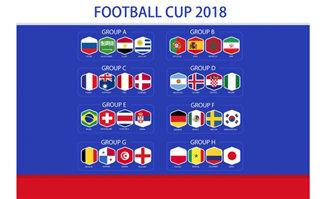 2018世界杯足球杯国旗