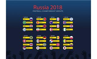 2018世界杯足球矢量国旗元素