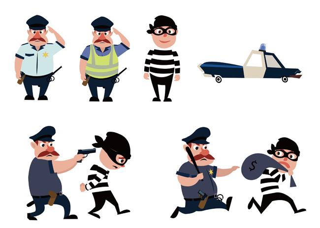 警察抓小偷图片