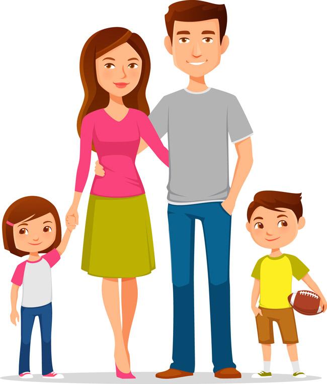 主页 矢量文件 矢量人物 > 动漫卡通爸爸妈妈一家老小形象人设素材