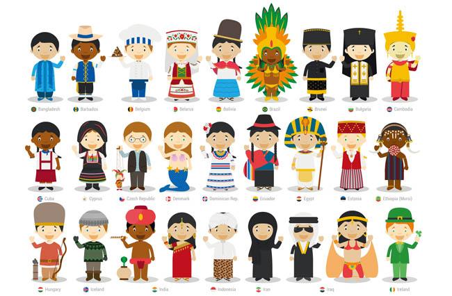 世界各国少数民族人物服装大全通帅哥动漫穿着漫画图片的卡动漫图片