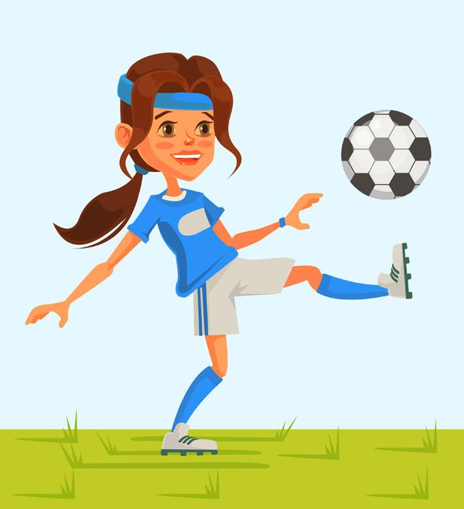 主页 矢量文件 矢量人物 > 女足球运动员正在踢球的动作设计素材
