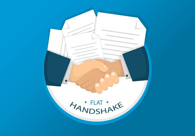 商务诚信合作素材  扁平化握手图标设计矢量素材下载