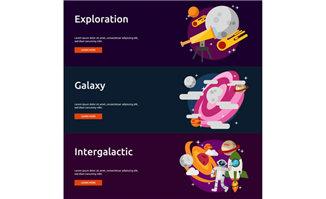 宇宙中空间航天技术元素背景设计素材