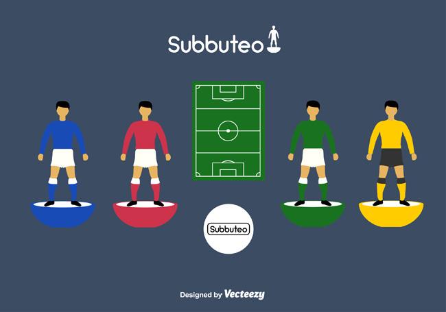 足球运动站姿的图标设计矢量素材下载