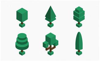创意立体几何体造型的树