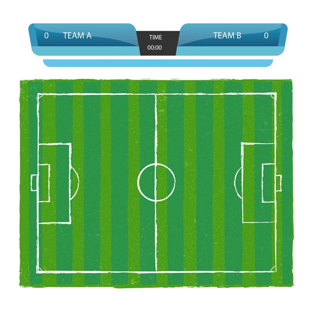 矢量世界杯球场绿色元素  足球比赛海报背景设计矢量素材下载
