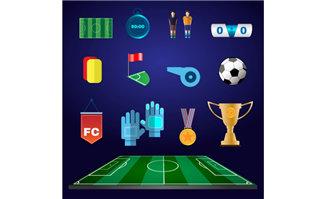 足球运动中各种道具装备
