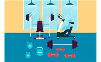 扁平化场景设计健身房场