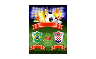 足球比赛中巴西队与其他
