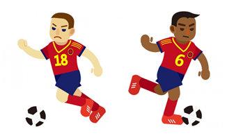 动漫卡通足球小运动员正
