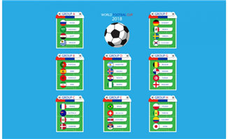 扁平化足球比赛小组赛信