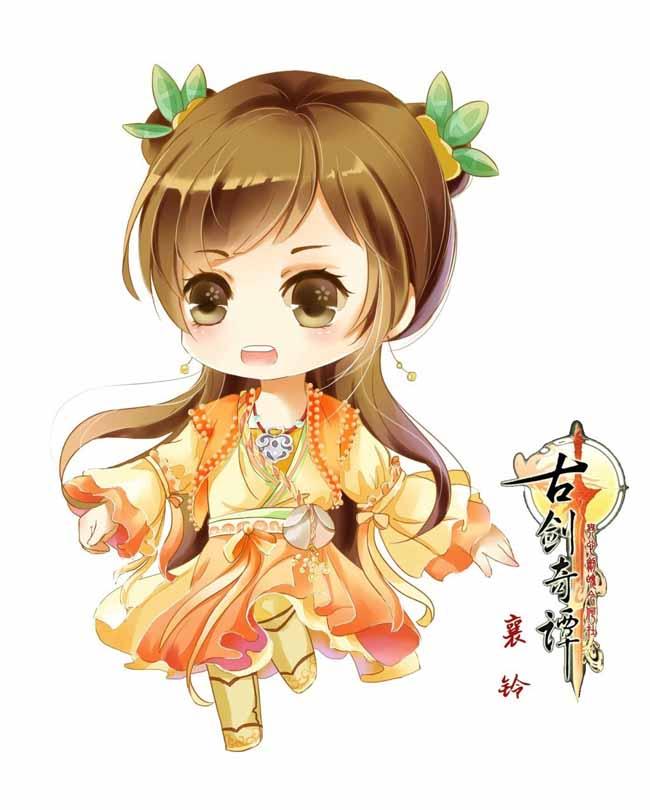 中国风古装服装q版动漫人物形象设计