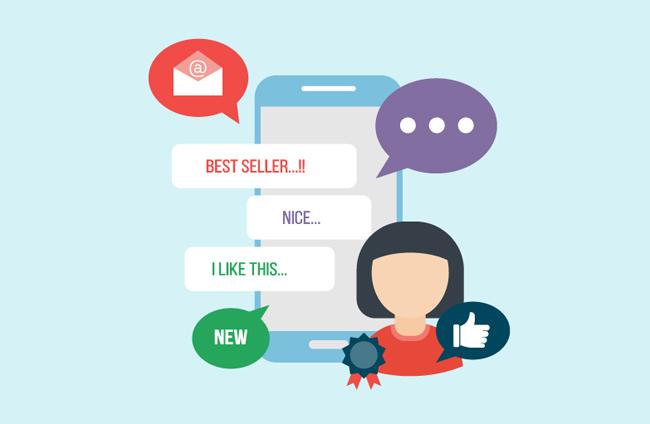 扁平化手机聊天软件界面对话框设计素材