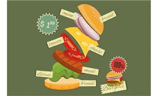 创意动感美食广告海报手
