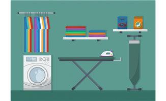 洗衣机洗衣房扁平化场景