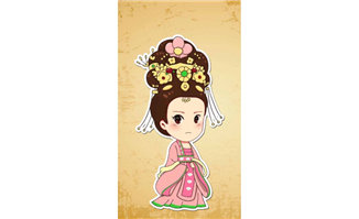 中国古代人物穿宫廷衣服