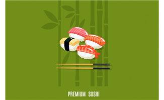 矢量寿司美食素材图片