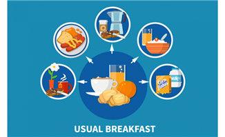 高蛋白食物主食面包图标