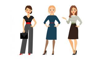 3个商务职业成熟女性形象