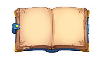 手绘游戏复古书籍书本图标造型设计素材