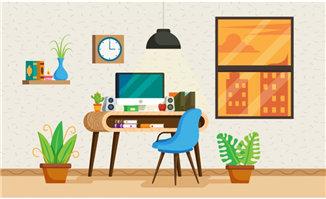 创意简约造型的办公场景