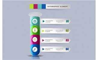 彩色创意透明柱子标签设