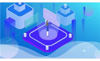 2.5d科技蓝色创意背景设计