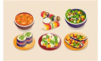 水果蔬菜沙拉美食菜品图