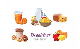营养早餐图标设计矢量素