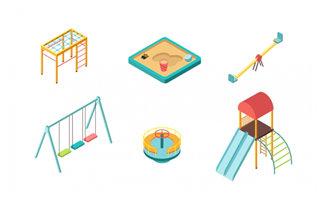 公园里面的儿童游乐设备设计